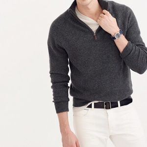 J. Crew Charcoal Gray Lambswool Pullover Sweater